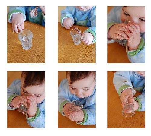 kendi su içen çocuk